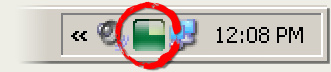 Image of Taskbar Showing VirtuaWin icon